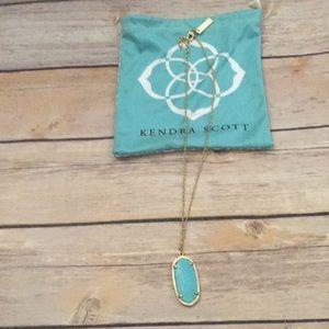 KENDRA SCOTT short chain turquoise pendant